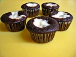 Mini Black-Bottom Cupcakes