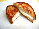 Roasted Garlic Grilled Cheese on Bantam Bread Organic French White