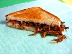 Grilled Cheese with Blue Moon Farm Beef brisket