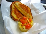 Grilled Cheese on Bantam Bread Organic French White with a Just-Picked Corn Salad