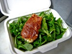Rocket Salad  . . . Organic Arugula and Sauteed Prosciutto-Wrapped Fresh Mozzarella