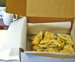 Box of Freshly Baked Organic Apricot and Sage Scones