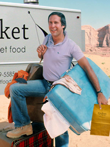 chevy chase vacation rocket | rocket fine street food