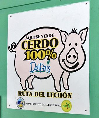 pork highway sign