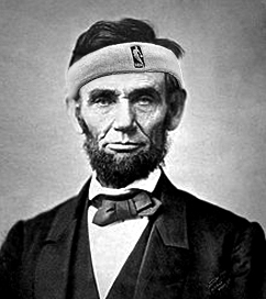 abraham lincoln sweatband