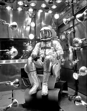 astronaut heat test