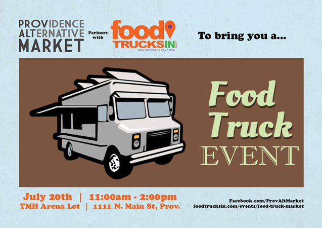 pam food truck event poster