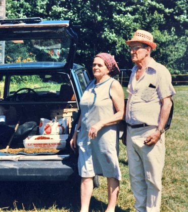 Noni and Papa Cherry Picking