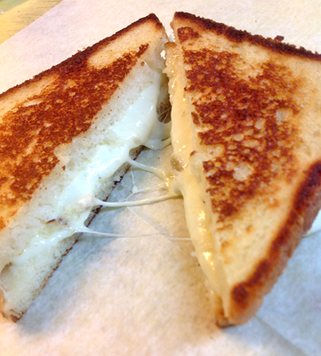 Roasted Garlic Grilled Cheese